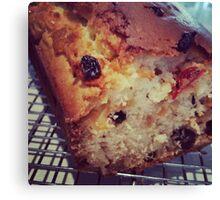 Comfort Food: Fruit Loaf Canvas Print