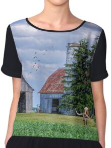Out To Pasture Chiffon Top