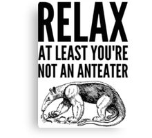 Fingal says Relax Canvas Print