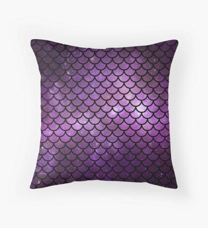 Mermaid Tail Purple Throw Pillow