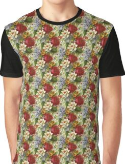 Mixed Flowers Bright Graphic T-Shirt