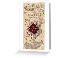 Marauder's Map - Harry Potter Greeting Card