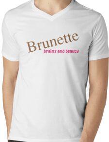 Brunette Funny Quote Mens V-Neck T-Shirt