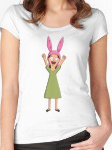 Louise Belcher Light Pattern Purple Women's Fitted Scoop T-Shirt