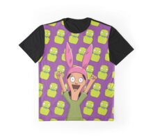 Louise Belcher Light Pattern Purple Graphic T-Shirt