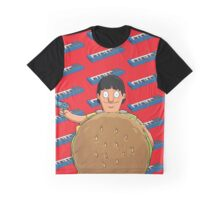 Gene Belcher Keyboard Pattern Red Graphic T-Shirt