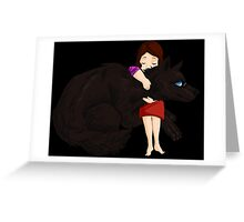 Hugging a lycan Greeting Card