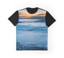 Summer night at Ogmore by Sea Graphic T-Shirt
