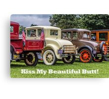 Classic Cars With Hot Butts Canvas Print
