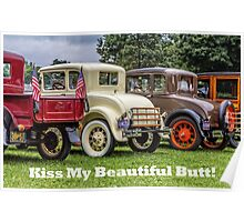 Classic Cars With Hot Butts Poster