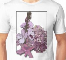 Bee on pink flowers Unisex T-Shirt
