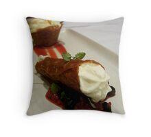 Comfort Food: Cannoli Throw Pillow