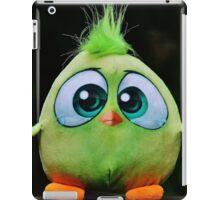 Funny Cute Big Eyed Fluffy Green Bird iPad Case/Skin