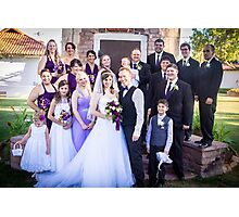 Tucker Wedding - Wedding Party Photographic Print