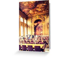 Fine dining at Greenwich Greeting Card