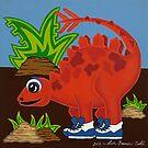Red Dinosaur by Lisa Frances Judd~QuirkyHappyArt