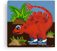 Red Dinosaur Canvas Print