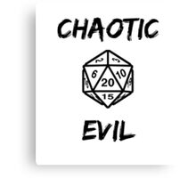 GAMER - Alignment : Chaotic evil Canvas Print