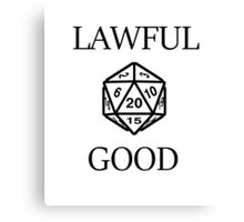 GAMER - Alignment : Lawful good Canvas Print