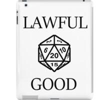 GAMER - Alignment : Lawful good iPad Case/Skin