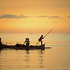 Fishermen at Dusk by Werner Padarin