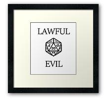 GAMER - Alignment : Lawful evil Framed Print