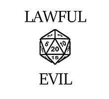 GAMER - Alignment : Lawful evil Photographic Print
