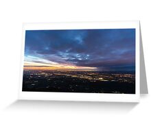 Sunset over Melbourne Greeting Card