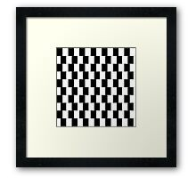 Optical illusion pattern in black and white Framed Print