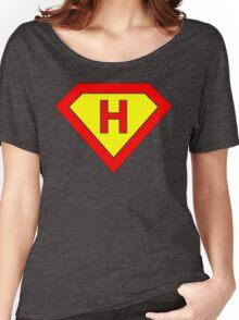 Superman alphabet letter Women's Relaxed Fit T-Shirt