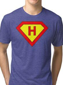 Superman alphabet letter Tri-blend T-Shirt