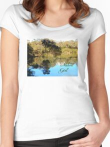 Nature Girl - Lake Women's Fitted Scoop T-Shirt