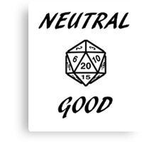 GAMER - Alignment : Neutral good Canvas Print