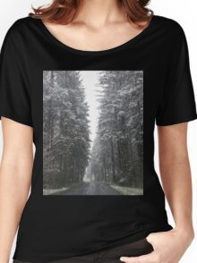 Breathtaking Snowy Forest  Women's Relaxed Fit T-Shirt