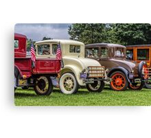 Classic Cars Trunks Canvas Print