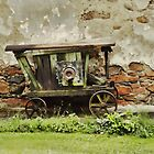 The old wooden wheel Barrow by brijo
