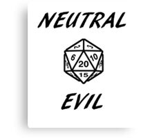 GAMER - Alignment : Neutral evil Canvas Print