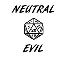 GAMER - Alignment : Neutral evil Photographic Print