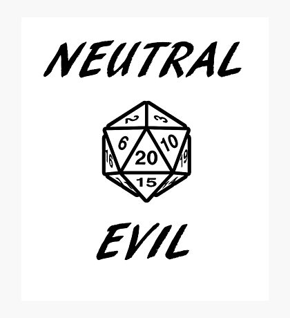 GAMER - Alignment : Neutral evil Photographic Print