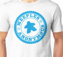 Meeples Anonymous Cyan Unisex T-Shirt