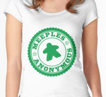 Meeples Anonymous Green Women's Fitted Scoop T-Shirt