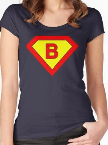 Superman alphabet letter Women's Fitted Scoop T-Shirt