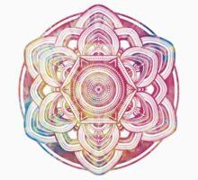 Rainbow Mandala One Piece - Short Sleeve