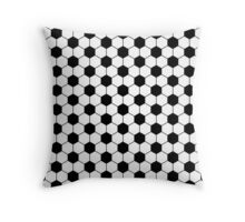 Football pattern in black and white Throw Pillow