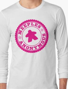 Meeples Anonymous Pink Long Sleeve T-Shirt
