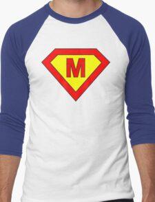 Superman alphabet letter Men's Baseball ¾ T-Shirt