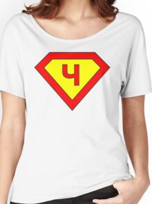 Superman alphabet letter Women's Relaxed Fit T-Shirt