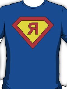 Superman alphabet letter T-Shirt