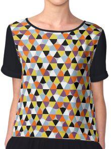Colorful circle pattern, abstract geometric print Chiffon Top