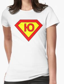 Superman alphabet letter Womens Fitted T-Shirt